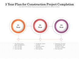 3 Year Plan For Construction Project Completion