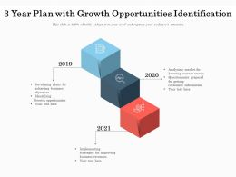 3 Year Plan With Growth Opportunities Identification