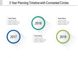 3 Year Planning Timeline With Connected Circles