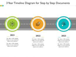 3 Year Timeline Diagram For Step By Step Documents Infographic Template
