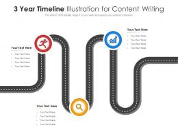3 Year Timeline Illustration For Content Writing Infographic Template