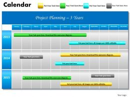 Powerpoint calendar templates calendar ppt slides ppt diagrams 3yearsprojectplanningganttchart2013calendarpowerpointslidesppttemplatesslide01 toneelgroepblik Choice Image