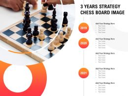 3 Years Strategy Chess Board Image