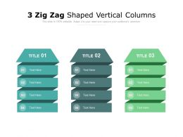 3 Zig Zag Shaped Vertical Columns