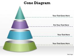 3c circular pyramid cone diagram slides presentation diagrams templates powerpoint info graphics