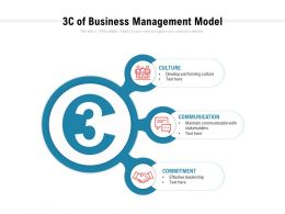 3c Of Business Management Model