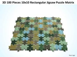 3D 100 Pieces 10x10 Rectangular Jigsaw Puzzle Matrix