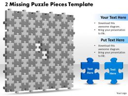 3D 10X10 Missing Puzzle Piece Template