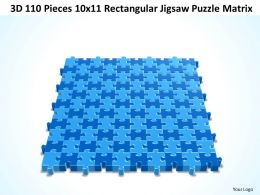 3D 110 Pieces 10x11 Rectangular Jigsaw Puzzle Matrix