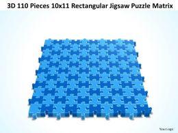 3D 110 Pieces 10x11 Rectangular Jigsaw Puzzle Matrix
