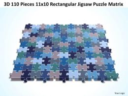 3D 110 Pieces 11x10 Rectangular Jigsaw Puzzle Matrix