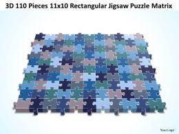 3D 110 Pieces 11x10 Rectangular Jigsaw Puzzle Matrix