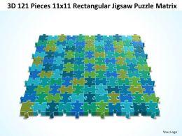 3D 121 Pieces 11x11 Rectangular Jigsaw Puzzle Matrix