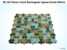 3D 132 Pieces 11x12 Rectangular Jigsaw Puzzle Matrix