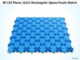 3D 132 Pieces 12x11 Rectangular Jigsaw Puzzle Matrix