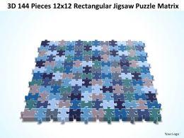 3D 144 Pieces 12x12 Rectangular Jigsaw Puzzle Matrix