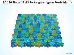 3D 156 Pieces 12x13 Rectangular Jigsaw Puzzle Matrix