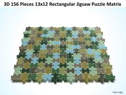 3D 156 Pieces 13x12 Rectangular Jigsaw Puzzle Matrix