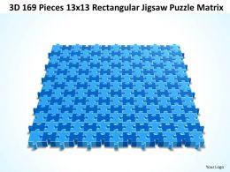 3D 169 Pieces 13x13 Rectangular Jigsaw Puzzle Matrix