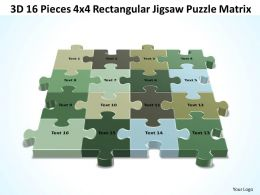 3D 16 Pieces 4x4 Rectangular Jigsaw Puzzle Matrix