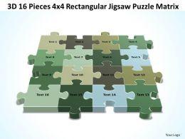 3D 16 Pieces 4x4 Rectangular Jigsaw Puzzle Matrix