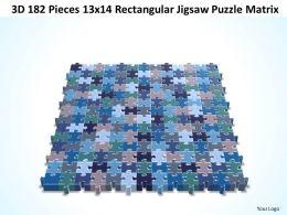 3D 182 Pieces 13x14 Rectangular Jigsaw Puzzle Matrix
