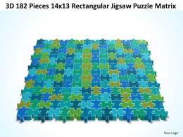 3D 182 Pieces 14x13 Rectangular Jigsaw Puzzle Matrix