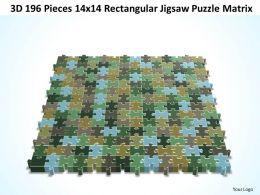 3D 182 Pieces 14x14 Rectangular Jigsaw Puzzle Matrix