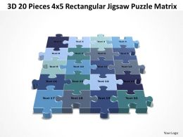 3D 20 Pieces 4x5 Rectangular Jigsaw Puzzle Matrix