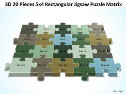 3D 20 Pieces 5x4 Rectangular Jigsaw Puzzle Matrix