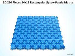 3D 210 Pieces 14x15 Rectangular Jigsaw Puzzle Matrix