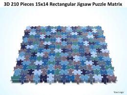 3D 210 Pieces 15x14 Rectangular Jigsaw Puzzle Matrix