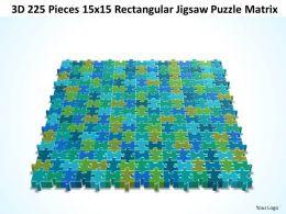 3D 225 Pieces 15x15 Rectangular Jigsaw Puzzle Matrix