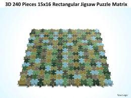 3D 240 Pieces 15x16 Rectangular Jigsaw Puzzle Matrix