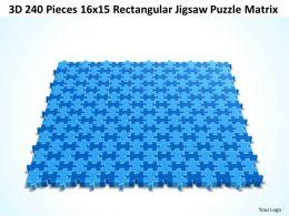 3D 240 Pieces 16x15 Rectangular Jigsaw Puzzle Matrix