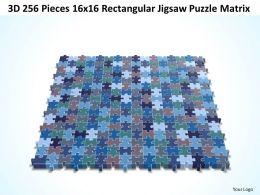 3D 256 Pieces 16x16 Rectangular Jigsaw Puzzle Matrix