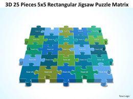 3D 25 Pieces 5x5 Rectangular Jigsaw Puzzle Matrix