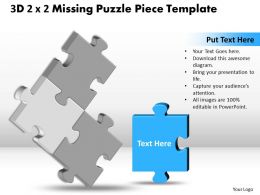3D 2X2 Missing Puzzle Piece Template