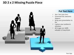 3D 2X2 Missing Puzzle Piece with persons 2
