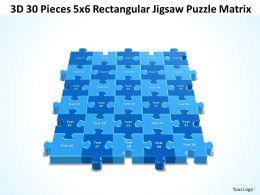 3D 30 Pieces 5x6 Rectangular Jigsaw Puzzle Matrix