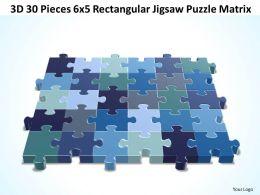 3D 30 Pieces 6x5 Rectangular Jigsaw Puzzle Matrix