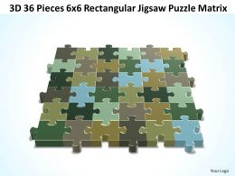 3D 36 Pieces 6x6 Rectangular Jigsaw Puzzle Matrix