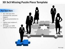 3D 3x3 Missing Puzzle Piece 3