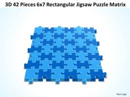 3D 42 Pieces 6x7 Rectangular Jigsaw Puzzle Matrix