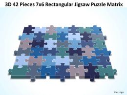 3D 42 Pieces 7x6 Rectangular Jigsaw Puzzle Matrix