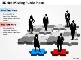 3D 4x4 Missing Puzzle Piece 1