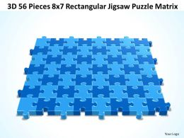 3D 56 Pieces 8x7 Rectangular Jigsaw Puzzle Matrix