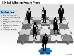 3D 5x5 Missing Puzzle Piece