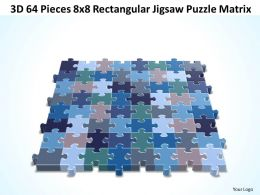3D 64 Pieces 8x8 Rectangular Jigsaw Puzzle Matrix