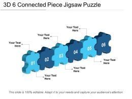 3d 6 Connected Piece Jigsaw Puzzle